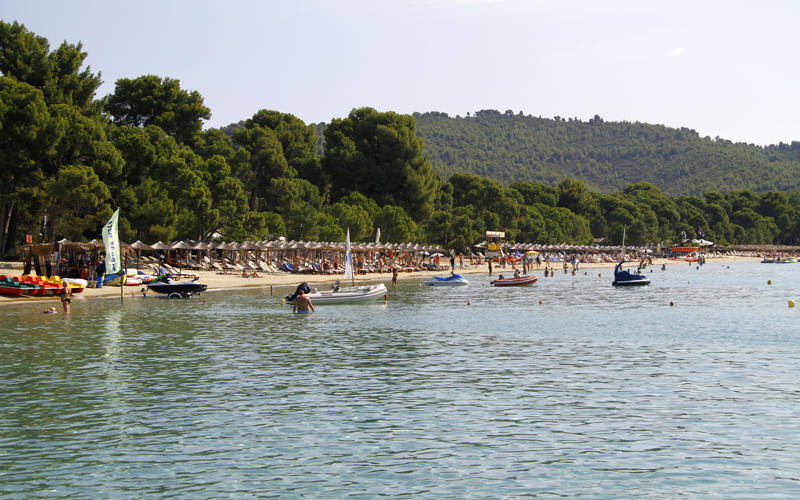 Top 5 things to do in Skiathos island: Swim in Koukounaries