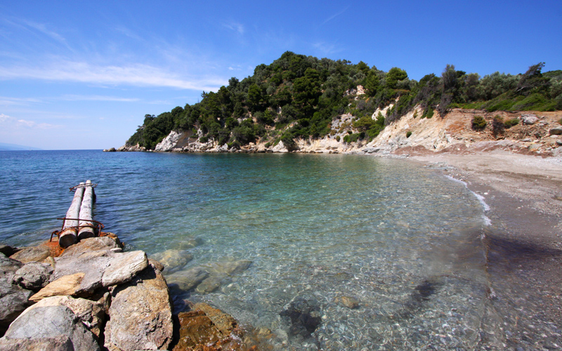 Secluded beaches in Skiathos: Kechria